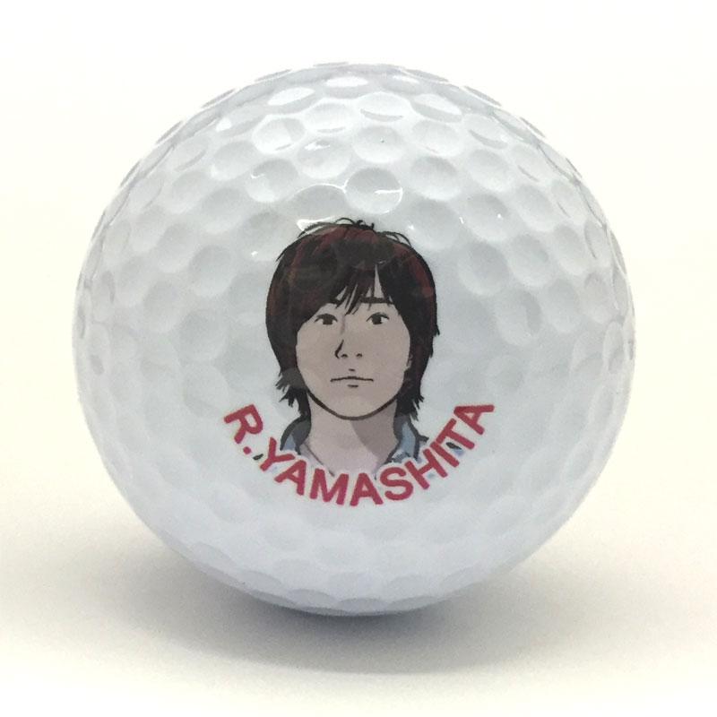 似顔絵プリントゴルフボール