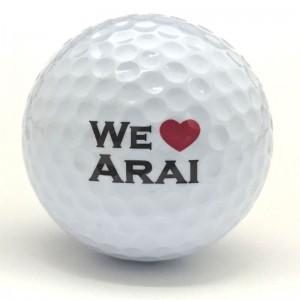 we loveネームプリントゴルフボール